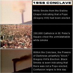 White Smoke seen by 200,000 people in St. Peters Square (1958 Conclave-Election of Gregory XVII)